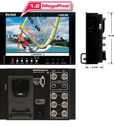 Picture of V-R70P-HDA-AB HD 7' Wide Screen LCD Monitor with Anton Bauer Battery Mount