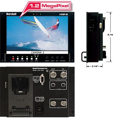 Picture of V-R70P-HDSDI HD 7' Wide Screen LCD Monitor with HDSDI/SD Input and V-Clip Battery Mount