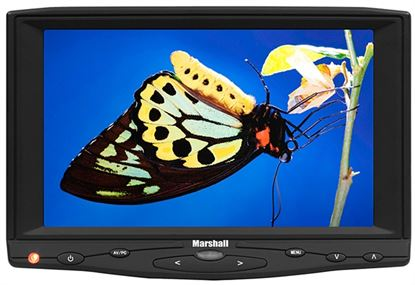 """Picture of 7"""" Camera-Top Monitor with Canon E6 battery adapter and HDMI"""
