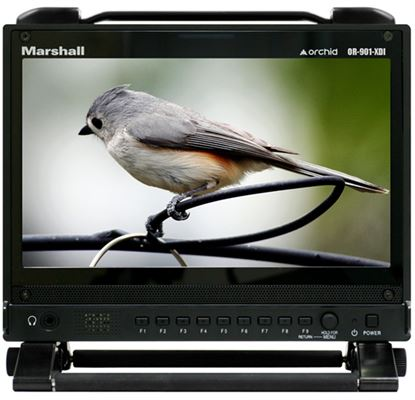 """Immagine di OR-901-XDI Single 9"""" Wide Screen with Dual 3GSDI, Analog, HDMI Inputs with Full Cross Conversion HDMI Output"""