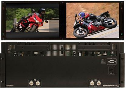 Picture of V-R1042DP-TE4U Dual 10.4' High Def 1024x768 Monitor Set with HDSDI inputs, TE Line, 4RU