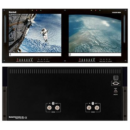 Picture of V-R102DP-HDSDI Dual 10.4' LCD Rack Mount Panel with HDSDI Input